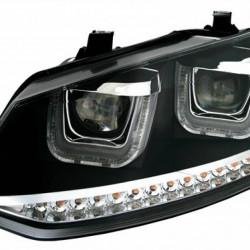 VW POLO 6R SCHEINWERFER SET mit LED BLINKER U-Tube Tagfahrli