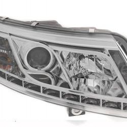 Audi A6 4F Klarglas-Chrom Scheinwerfer mit echtem Tagfahrlicht