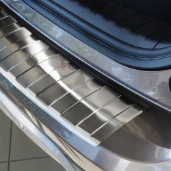 Honda CR-V IV FL ab Bj 2015- Edelstahl Ladekantenschutz mit 3D Profil und Abkantung