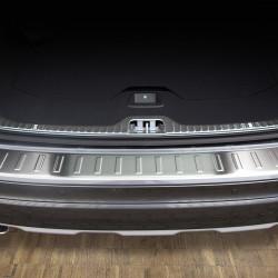 Volvo XC60 Facelift ab Baujahr 2013- Edelstahl Ladekantenschutz mit 3D Profil und Abkantung