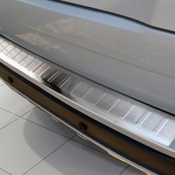 Volvo XC90 Facelift Edelstahl Ladekantenschutz mit 3D Profil und Abkantung