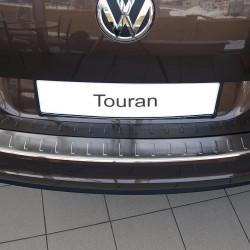 VW Touran 1 GP2 ab Bj.2010-2015 Edelstahl Ladekantenschutz mit 3D Profil und Abkantung
