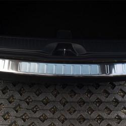 VW Caddy ab Bj. 2003- Edelstahl Ladekantenschutz mit 3D Profil und Abkantung